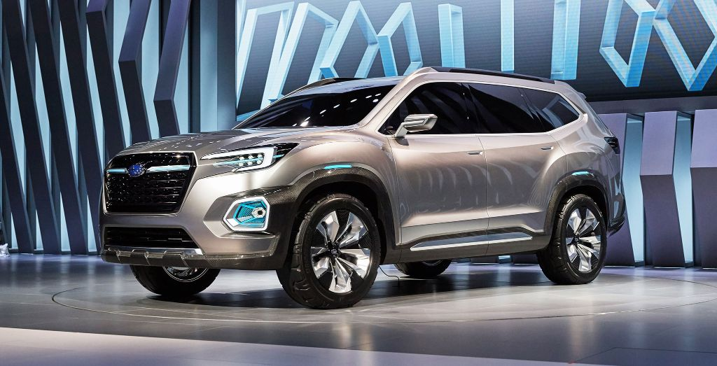 Custom Subaru Outback >> Subaru previews its biggest ever SUV - Wheels