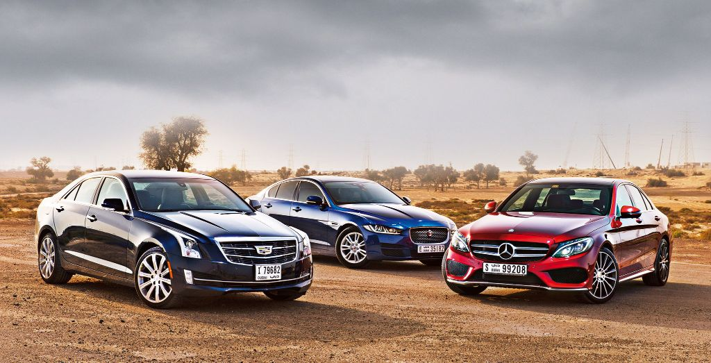 Cadillac Ats Vs Jaguar Xe Vs Mercedes Benz C Class Wheels