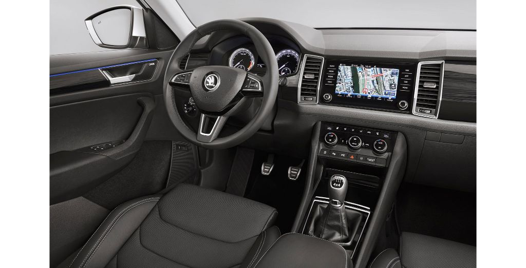Koda reveals kodiaq interior wheels - Skoda kodiaq interior ...